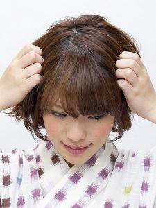 浴衣 髪型